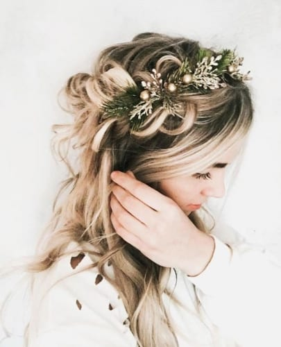 Pretty Hair Crown Braid with Hair  Crown Accessory