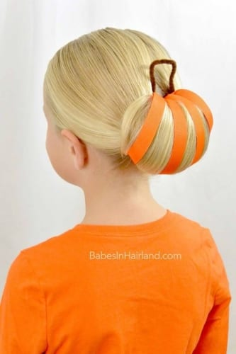 Pumpkin Bun Look for Small and Big Girls