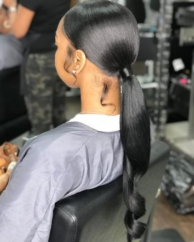 Sleek Ponytail Hairstyles With Weave