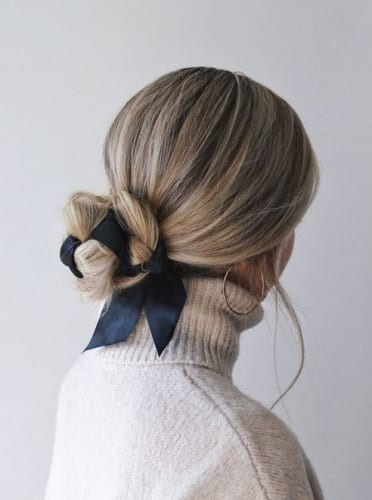 Twisted Chignon Bow Style