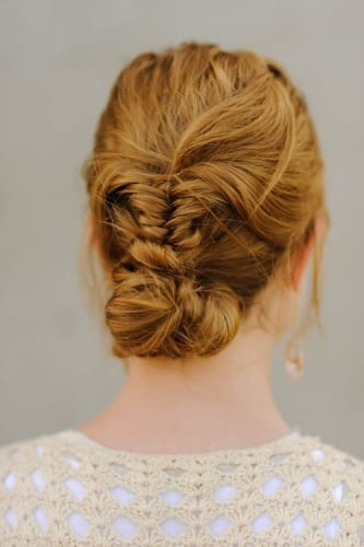 braided chignon thanksgiving day hairstyles