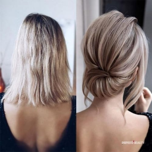 chignon hairstyles for short hair