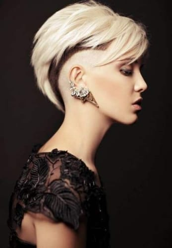 elegant long top with fade and shaved sides