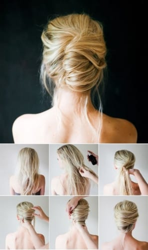 messy french twist tutorial