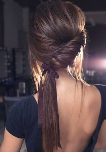 ponytail updo hairstyle