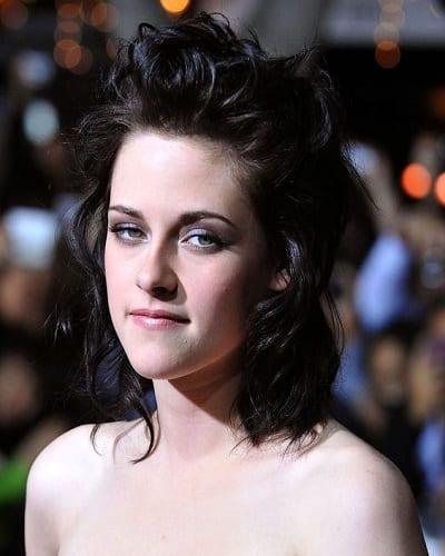 Kristen Stewart Wavy Long Mullet
