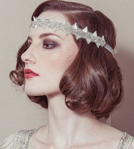The 1920s Medium-Length Headband Hairstyle