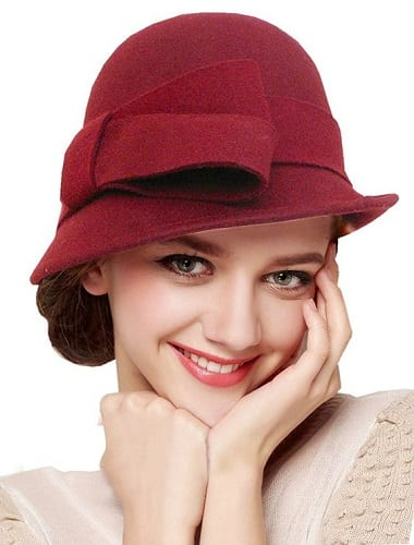 Low bun with cloche hat
