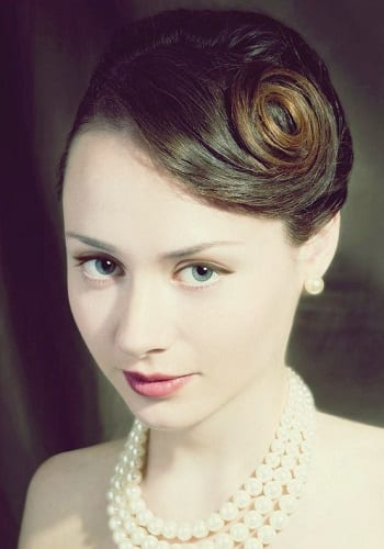 Updo with pin curls
